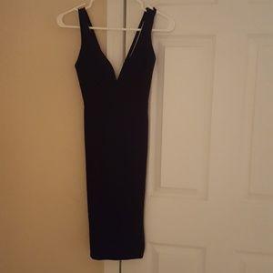 Black, low cut dress